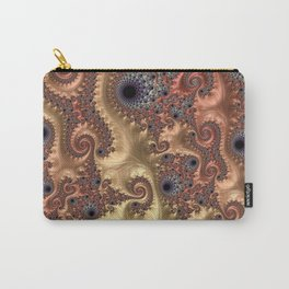 Peach Parade - Fractal Art Carry-All Pouch
