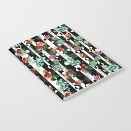 Cactus Flowers and Lines Notebook
