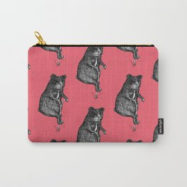 Ride On Bear_pink Carry-All Pouch