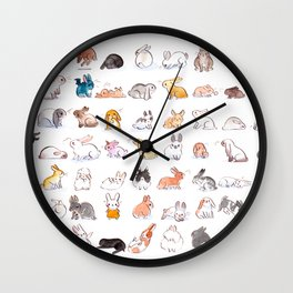 63 Bunnies Wall Clock