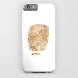 Gold Fingerprint Minimalist Modern Animal Print Selfie Bohemian Chic Fashion iPhone Case