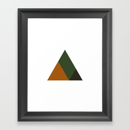 #381 Mountain top – Geometry Daily Framed Art Print