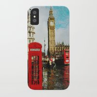 england iPhone & iPod Cases featuring London, England by ClassicalSass