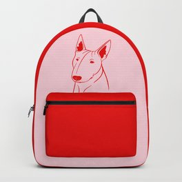 Bull Terrier (Pink and Red) Backpack