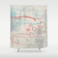 peacock Shower Curtains featuring Peacock by Heinz Aimer