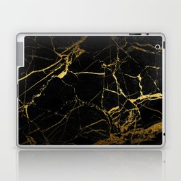 Black-Gold Marble Impress Laptop & iPad Skin