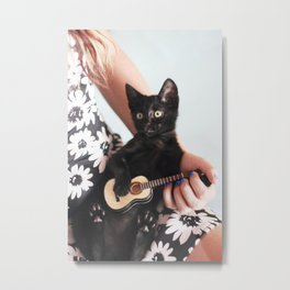 Playing a serenade Metal Print