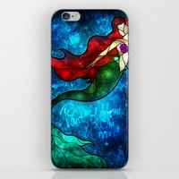 mandie manzano iPhone & iPod Skins featuring The Mermaids Song by Mandie Manzano