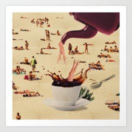 Coffee Break Collage Art Print
