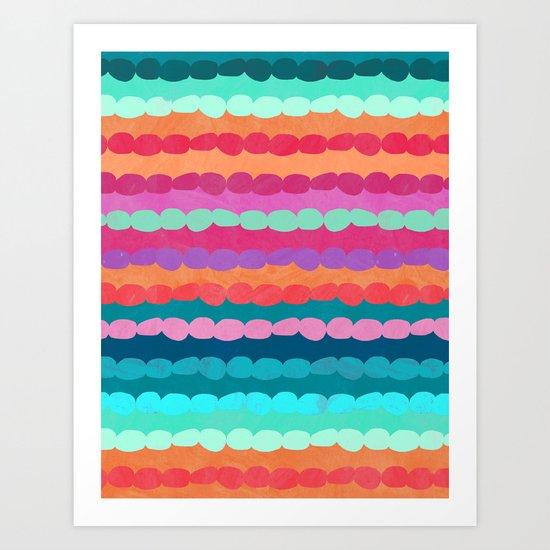 Brite Stripe Art Print