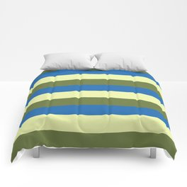 green blue and cream stripes Comforters