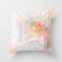 watercolour Throw Pillows featuring Watercolour by CatDesignz