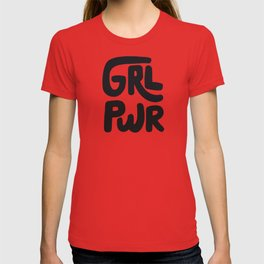 Grl Pwr black and white T-shirt