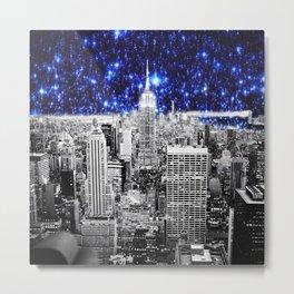 new york city. Blue Stars Metal Print