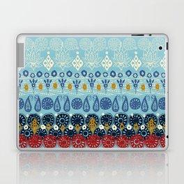 lotus block blue Laptop & iPad Skin