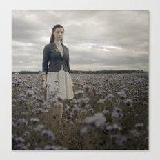 Woman in Field Canvas Print