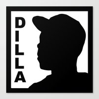 j dilla Canvas Prints featuring Dilla by thehiphopshop