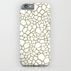 Gold White Giraffe Print  iPhone 6 Slim Case