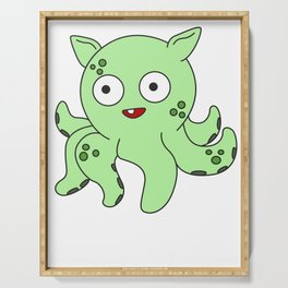 The Small But Adorable Dumbo Octopus Tshirt Design Cute & Adorable Dumbo Octopus Serving Tray