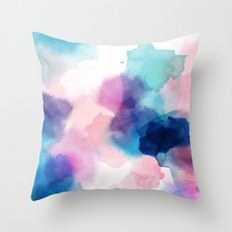 Melody abstract watercolor Throw Pillow