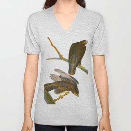 Black Warrior Bird Unisex V-Neck