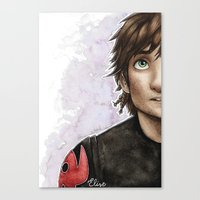 hiccup Canvas Prints featuring Hiccup by Elise Hoglund