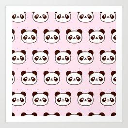 Cute Panda Pattern Art Print