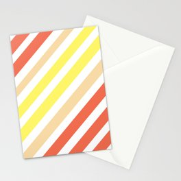 Red Yellow Lines Stationery Cards