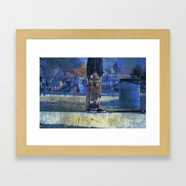 Waiting to Skate  -  Skateboarder Framed Art Print