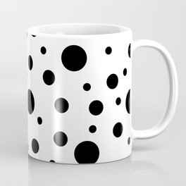 Black on White Polka Dot Pattern Coffee Mug