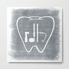 RDH Tooth Metal Print