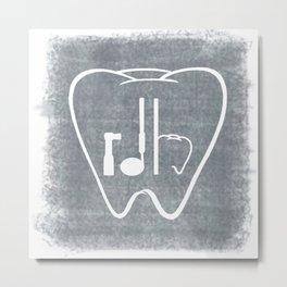 RDH Tooth Metal Print