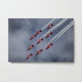 Red Arrows Aerobatics Metal Print