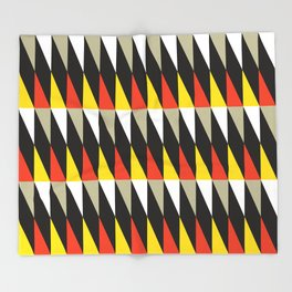 Geometric Pattern #187 (harlequin red yellow) Throw Blanket