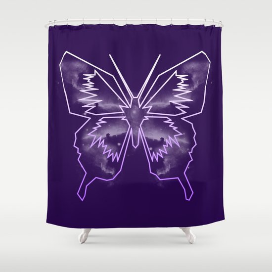 Galactica Purple Butterfly Shower Curtain By Tiffany 10 Society6