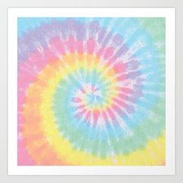 Pastel Tie Dye Art Print