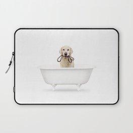 Golden Retriever in a Vintage Bathtub Laptop Sleeve