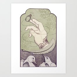 Pajaros Enamorados Art Print