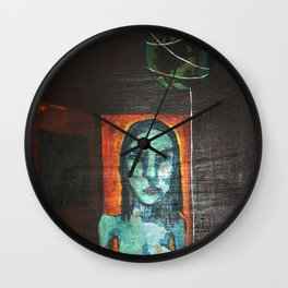 Our World on a String Wall Clock