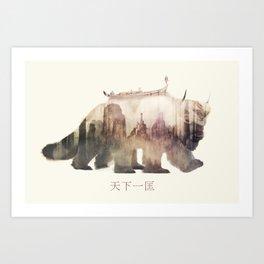 Sky Bison (Appa) Art Print