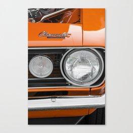 Orange Camaro Canvas Print