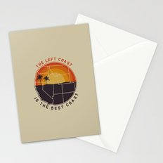 Left Coast is the Best Coast Stationery Cards