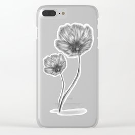 Flores, flowers, black and white Clear iPhone Case