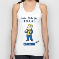 fallout 3 Tank Tops featuring Charisma S.P.E.C.I.A.L. Fallout 4 by sgrunfo