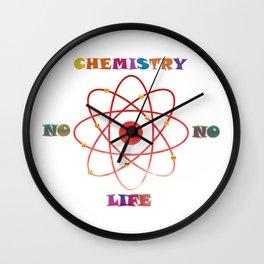 No Chemistry, No Life. Wall Clock