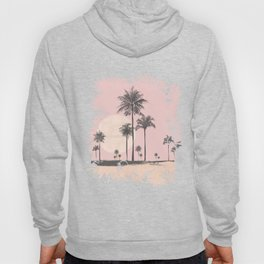 Tropical Sunset In Peach Coral Pastel Colors Hoody