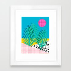 Mondo - 80's retro throwback memphis art print 1990's millennium gen x generation y dots grid  Framed Art Print