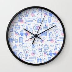 The fans pattern Wall Clock