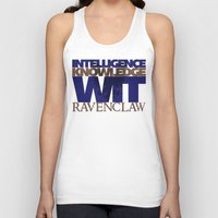 ravenclaw Tank Tops featuring Ravenclaw by Fanboy's Canvas