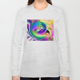 The Dance A Modern Digital Art By Annie Zeno  Long Sleeve T-shirt